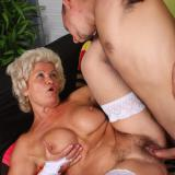 Busty blonde gilf Francesca and her fuckbuddy start off with foreplay and end up screwing